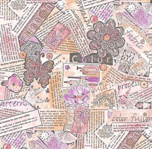 FREE SPIRIT - Color Fusion - Laura Heine - Collage - Pink