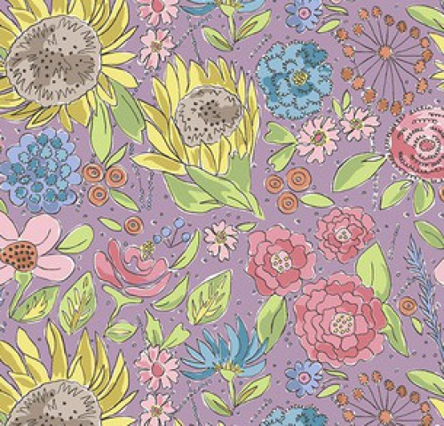 FREE SPIRIT - Color Fusion - Laura Heine - Sun Flower - Lavender