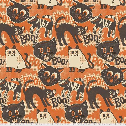 FREE SPIRIT - Spooktacular by Maude Asbury - Scaredy Cat - Orange