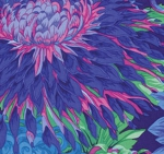 FREE SPIRIT - Kaffe Fassett - Philip Jacobs - Japanese Chrysanthemum - Blue