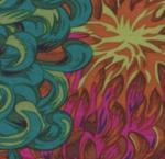 FREE SPIRIT - Kaffe Fassett - Philip Jacobs - Japanese Chrysanthemum - Scarlet