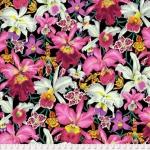FREE SPIRIT - Kaffe Fassett Collective - Spring 2018 - Orchids - Black