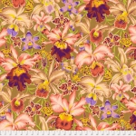 FREE SPIRIT - Kaffe Fassett Collective - Spring 2018 - Orchids - Brown