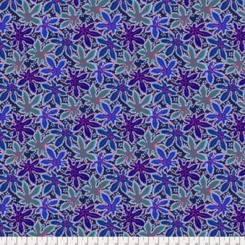 FREE SPIRIT - Kaffe Fassett -Spring 2018 -  Lacy Leaf - Blue