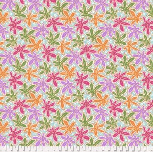 FREE SPIRIT - Kaffe Fassett Collective - Spring 2018 - Lacy Leaf - Pastel