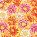 FREE SPIRIT - Kaffe Fassett Collective - Spring 2019 - Cactus Flower - Yellow