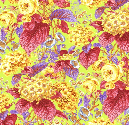 FREE SPIRIT - Kaffe Fassett Collective - Spring 2019 - Rose and Hydrangea - Citrus
