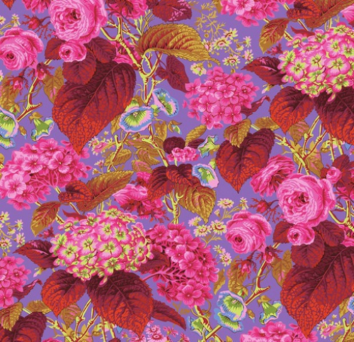 FREE SPIRIT - Kaffe Fassett Collective - Spring 2019 - Rose And Hydrangea - Hot