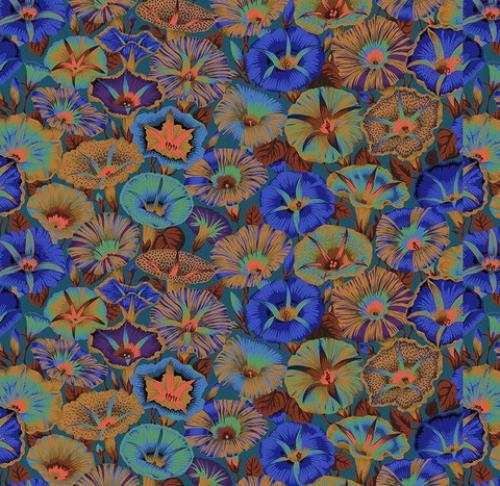 FREE SPIRIT - Kaffe Fassett Collective - Spring 2019 - Variegated Morning Glory - Blue