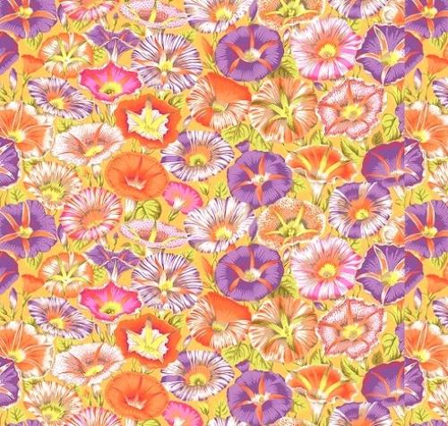 FREE SPIRIT - Kaffe Fassett Collective - Spring 2019 - Variegated Morning Glory - Orange