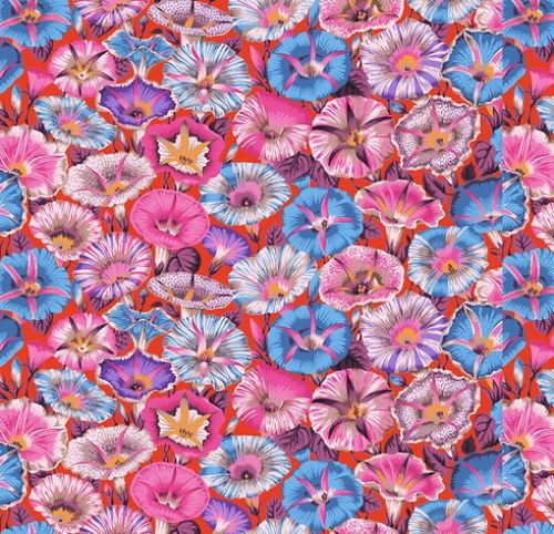 FREE SPIRIT - Kaffe Fassett Collective - Spring 2019 - Variegated Morning Glory - Red