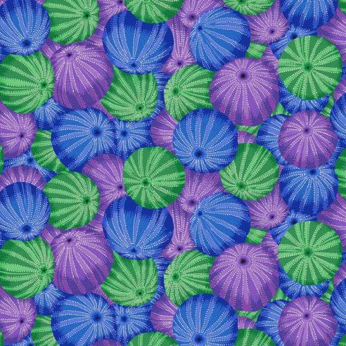 FREE SPIRIT - Kaffe Fassett Collective - Spring 2019 - Sea Urchins - Blue