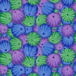 FREE SPIRIT - Kaffe Fassett Collective - Spring 2019 - Sea Urchins - Blue