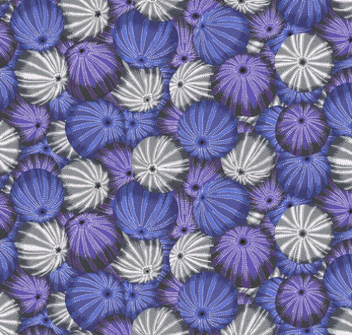 FREE SPIRIT - Kaffe Fassett Collective - Spring 2019 - Sea Urchins - Grey
