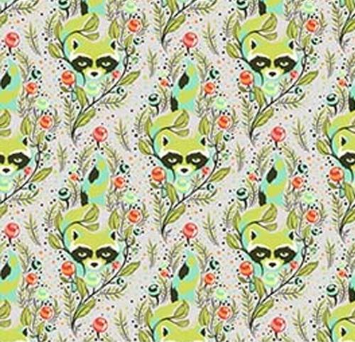 FREE SPIRIT - Tula Pink - Raccoon - Agave #176