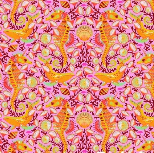 FREE SPIRIT - Tula Pink - Zuma - Sea Stallion - Goldfish - FB7730-