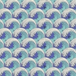 FREE SPIRIT - Tula Pink - Zuma - White Caps - Aquamarine - FB7725-