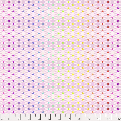 FREE SPIRIT - Tulas True Colors - Tula Pink - Hexy Rainbow - Shell
