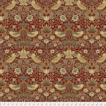 FREE SPIRIT - Bloomsbury - Morris & Co - Strawberry Thief Rust