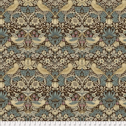 FREE SPIRIT - Bloomsbury - Morris & Co - Strawberry Thief Teal