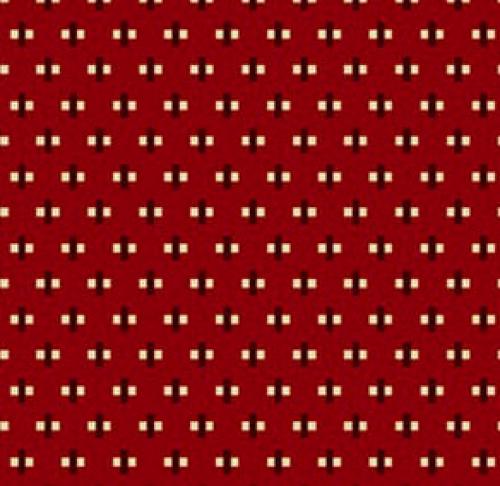 HENRY GLASS - Buttermilk Winter - Stacy West - Mini Cross - Red