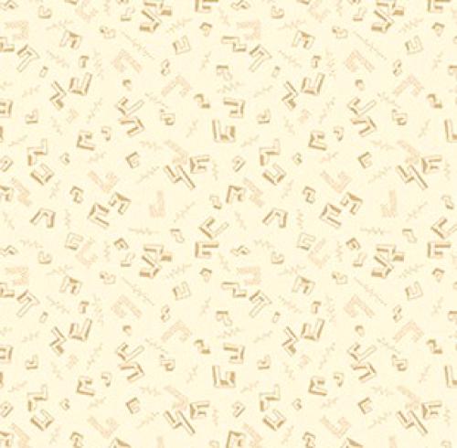 HENRY GLASS - Buttermilk Winter - Stacy West - Floating Geo - Cream