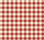 HENRY GLASS - Buttermilk Winter - Stacy West - Mini Buffalo Check - Cream - Red