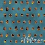 HOFFMAN - Can't Stop Falling - Teal/Gold - Acorns - Metallic
