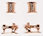 Thread Machine Earrings Set 2 ct Rose Gold by The Quilt Spot