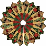 Tree Skirt - Black with Pattern Quilted Fox Design