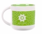 Quilt Happy Meandering Mug-Lime