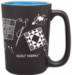 MUG - Quilt Happy BLUE Scribbles Mug