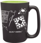 Quilt Happy Green Scribbles Mug