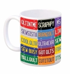 Quilt Happy License Plate Mug