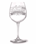 Quilting Forever Wine Glass by Quilt Happy