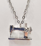 Sewing Machine Pendant Silver by The Quilt Spot
