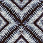 STOF - Digital Print - Shibori 4 - Bleu