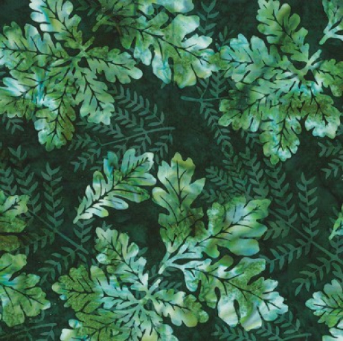 HOFFMAN - Bali Batik - Oak Leaves - Pine - K75091-