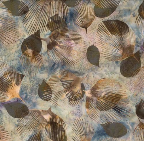 HOFFMAN - Bali Batik - Fan Leaf - Stone - K50066-
