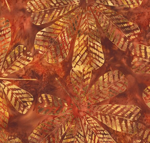 HOFFMAN - Bali Batik - Textured Big Leaf - Adobe - K50072-