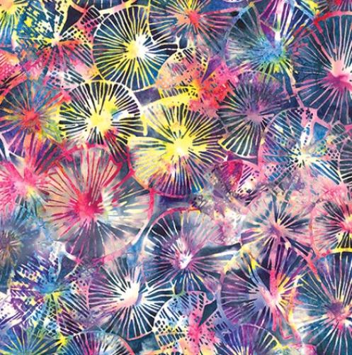 HOFFMAN - Bali Batik - Textured Lily Pads - Agate - K100018-