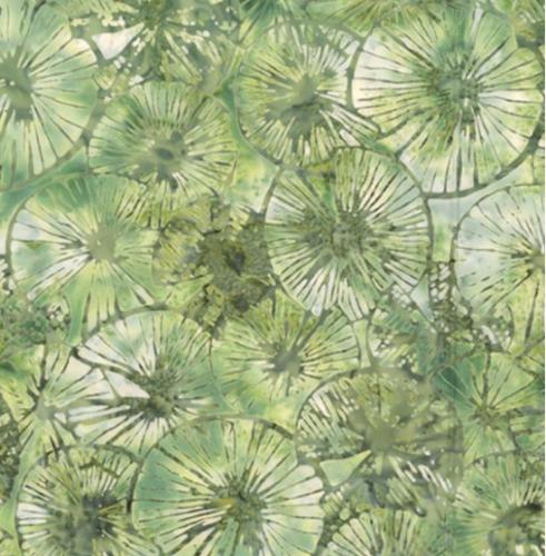 HOFFMAN - Bali Batik - Textured Lily Pads - Balsam - K75107-