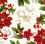 HOFFMAN - Poised Poinsettia - Natural - Gold