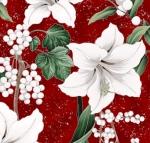 HOFFMAN - Poised Poinsettia - Garnet - Silver
