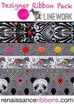 Tula Pink Linework Designer Ribbon Pack  by Renaissance Ribbons