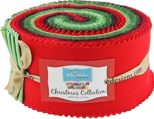 Riley Blake - Confetti Cottons Christmas Collection 2.5 Inch Rolie Polie 40 pcs