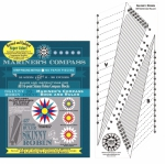Skinny Robin 16 Point Mariner's Compass Book and Ruler Combo