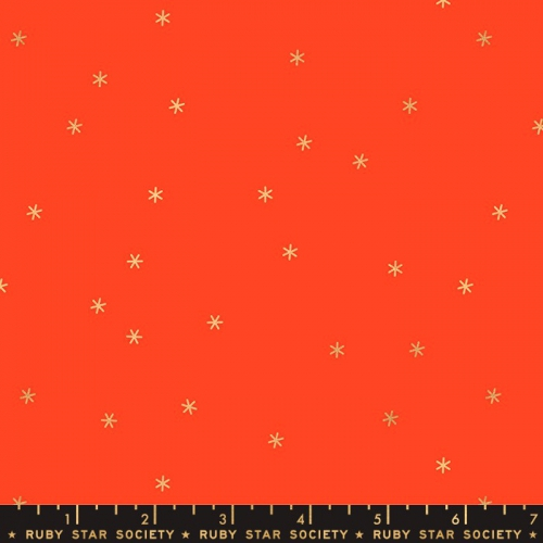 MODA FABRICS - Ruby Star Society - Spark - Roadster Red - Metallic