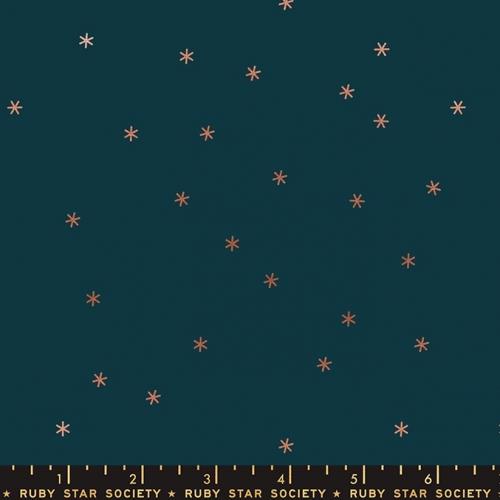 MODA FABRICS - Ruby Star Society - Spark Metallic - Peacock - Metallic