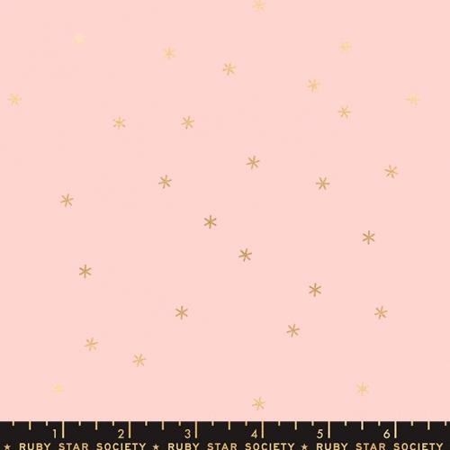 MODA FABRICS - Ruby Star Society - Spark Metallic - Pale Pink - Metallic